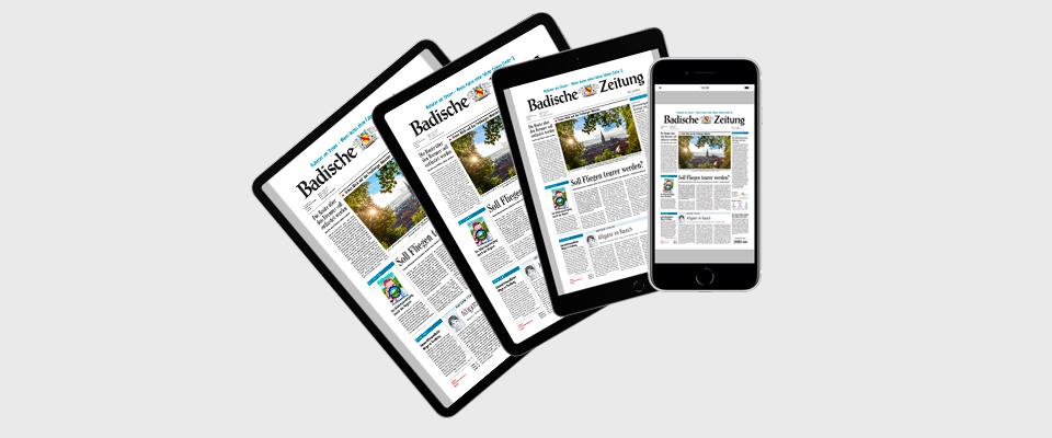 Tablet/Smartphone für Abonnenten der gedruckten Zeitung und BZ-Digital Premium