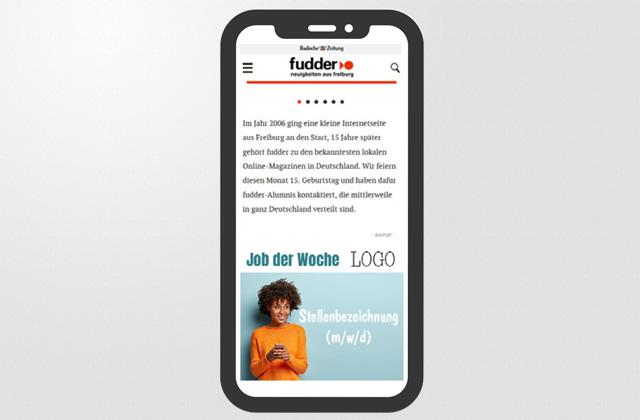 Upgrade Job der Woche auf fudder.de